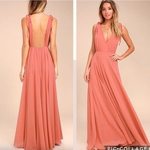 Lulu's Dance The Night Away Low Back Dress Maxi